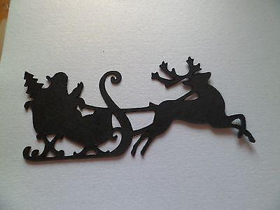 Christmas Die Cut - Santa & Reindeer Silhouette x 10