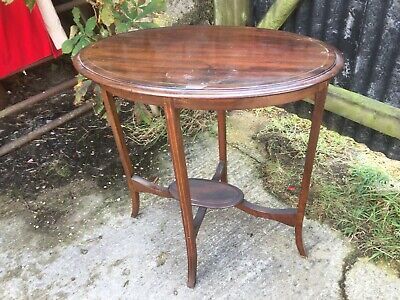 Edwardian Inlaid Mahogany Oval Occasional Table