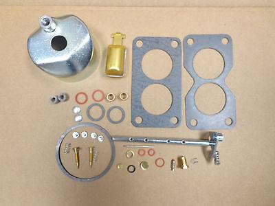 John Deere 50 520 530 Carburetor Carb Kit- Throttle Shaft Float Bowl