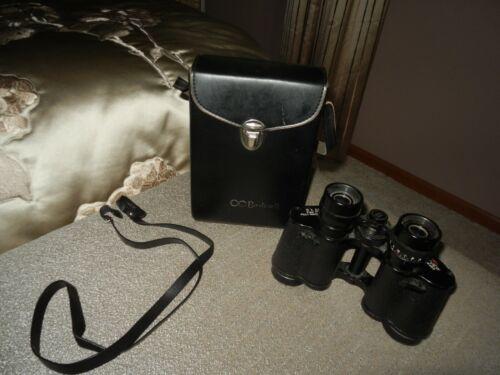 BUSHNELL 8 X 30 Black Sportview Binoculars w/Lined Case & Strap #ER49465