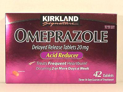 Kirkland Signature OMEPRAZOLE Delayed Release 20mg 42 Tablets *Acid Reducer*  (Acid Reducer Delayed Release Tablets)
