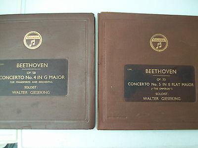 Job Lot 2 Beethoven Walter Gieseking Concerto No.4 Bohm Concerto No.5 Emperor NM