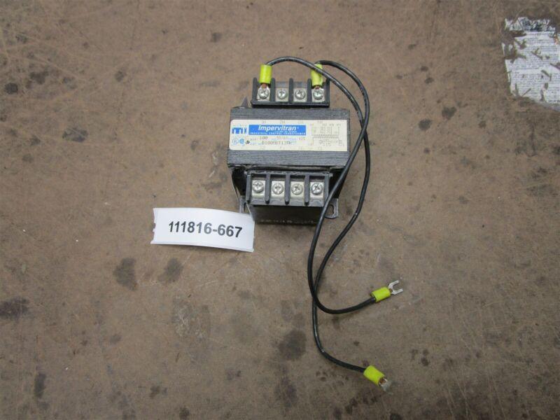 Micron B100MBT13 100va Pri 460-230-208 Sec 115V Impervitran Control Transformer