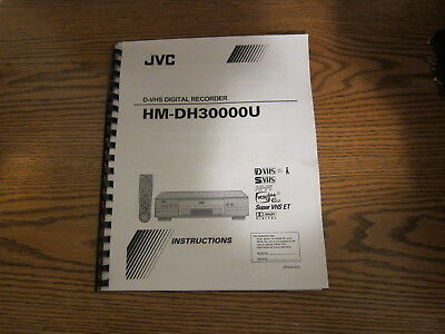 JVC hm-dh30000u dvhs digital recorder owner's operating manual instructions, used for sale  Toms River