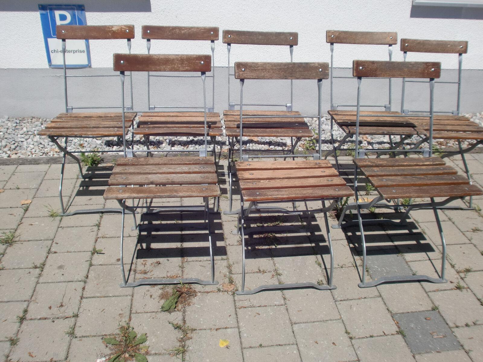 Alter Gartenstuhl Biergartenstuhl Klappstuhl Vintage Altholzoptik Holz  Metall