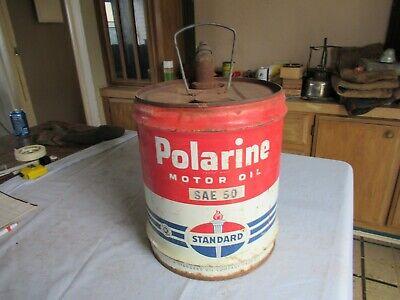 Vintage 5 Gallon Oil Can Standard Polarine Only 1 on eBay Lot 20-95-25