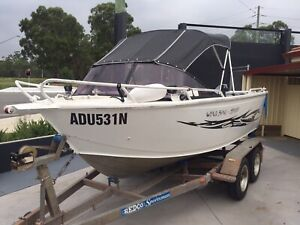 Aluminium plate boat 16 ft with 2 stroke 60 hp Yamaha