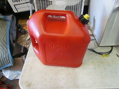 One Blitz 5 Gallon Vented Gas Can Painted With Rear Ventspout Yellow Cap