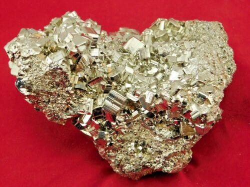 A BIG! Nice and 100% Natural RHOMBIC Pyrite Crystal Cluster Peru 700gr