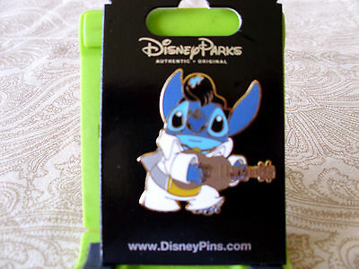 Disney * STITCH as ELVIS with GUITAR * New on Card Character Trading Pin