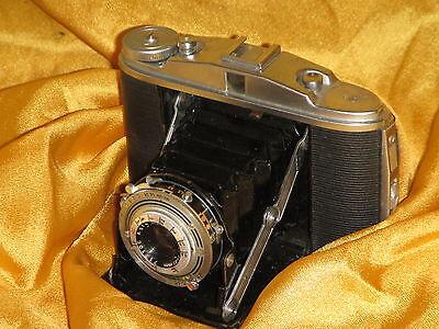 Kamera Camera Agfa Isolette 2 II Apotar 1:4,5/85 Bereitschaftstasche Leder 1A **