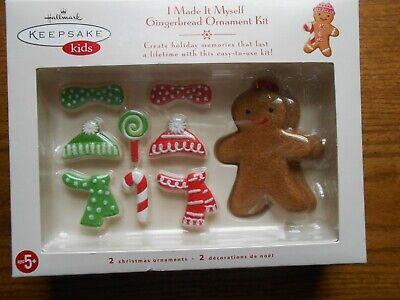 Hallmark Keepsake Kids I Made It Myself Gingerbread Ornament Kit 2007 Makes 2