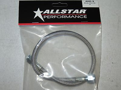 Braided Stainless Steel Brake Line 18 4 An Staight End 18 inch Length