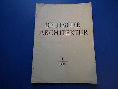 DDR Zeitschrift- Deutsche Architektur -1/1955-Magdeburg-Wohnhaus Straßenbild -