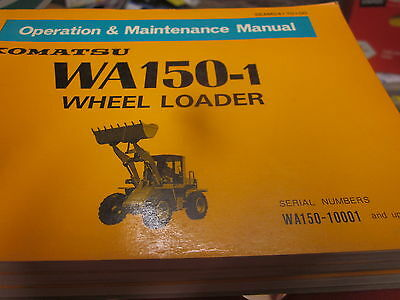 Komatsu Wa150-1 Wheel Loader Operation Maintenance Manual Wa150-10001-up