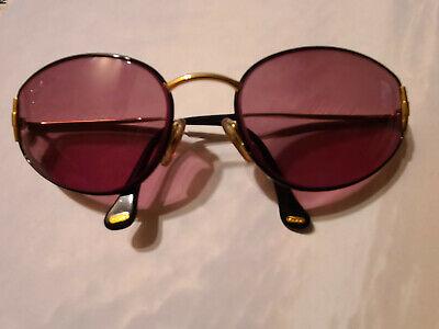 Vintage Authentic Gucci Logos Eyeglasses Gold Brown Eye Wear 2600/s