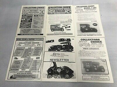 Lot of 6 Matchbox Die Cast Toy Car Leaflet - Collectors Choice Price Guide News
