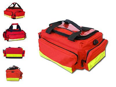 Notfalltasche LangeMed M/L aus rotem Nylon mit  Fronttasche, Erste Hilfe Bag