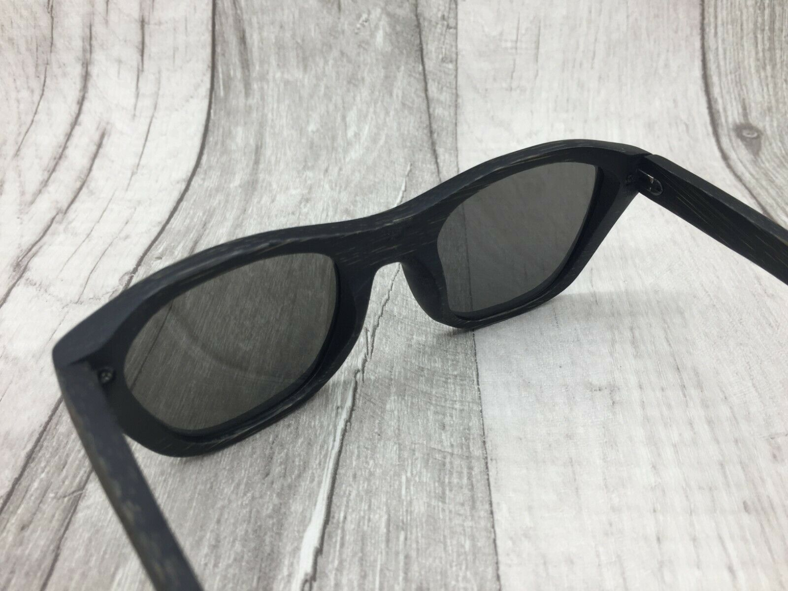 Men/'s 2019 Handcrafted Black Bamboo Wood Silver Mirror TAC Polarized Sunglasses