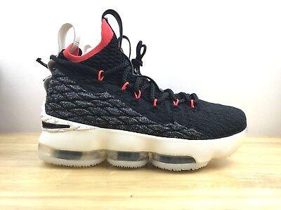 purchase cheap 26760 c9538 Nike Lebron XV Basketball Shoes Black Sail Kids Youth Size 6.5y