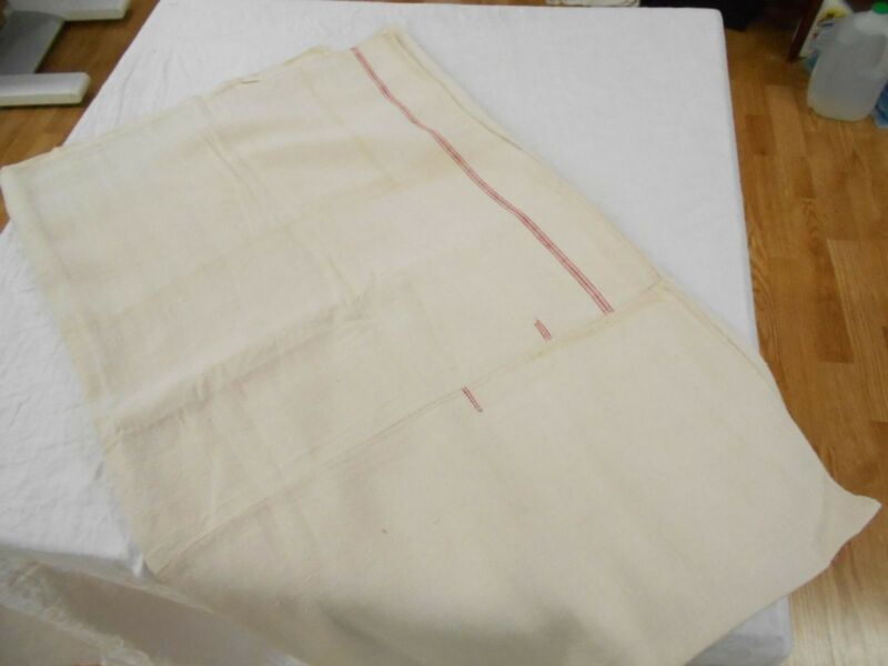 60x77 Vtg Antique EUROPEAN HEMP LINEN Blanket lap quilt FEED SACK GRAIN BAG
