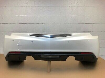 2013-2018 cadillac ats sedan 2.0 , 3.6 rear bumper with sensors & 3 modules #14