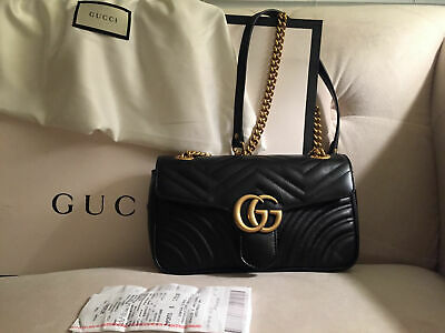 **New (Never Used) Authentic Gucci GG Marmont Small Matelasse Shoulder Bag