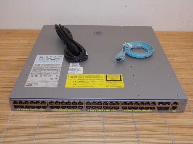 Cisco Catalyst WS-C4948E-F 48x10/100/1000-Gbps RJ45 4x SFP+ ports 1xPWR IP BASE