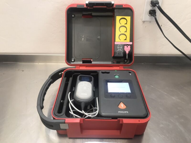 Philips Heartstart Fr3 AED With Q-CRP Meter With Infant Key