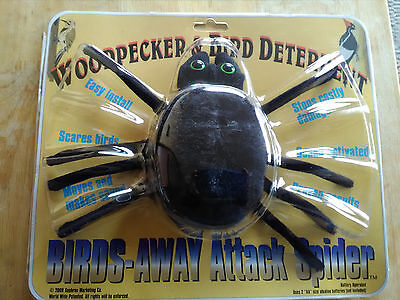 Birds Away Attack  Scare Spider Scares Woodpeckers - Woodpecker Problems