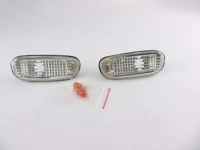 CRYSTAL Clear JDM Side Marker Light  Amber Bulb For 93-99 00 SUBARU IMPREZA GC8
