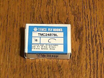 25 /& 100 pack no tax /& free shipping* Tiemco Fly Tying Hooks TMC206BL