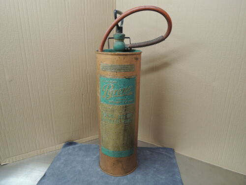 Pyrene 2-1/2 gallon copper pump tank extinguisher
