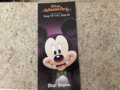 2018 Mickey's Not So Scary Halloween Party Walt Disney World Brochure