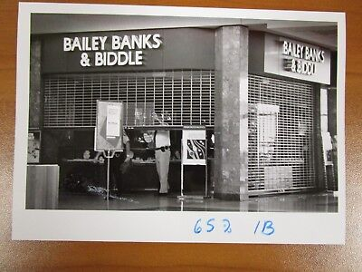 Vintage Glossy Press Photo Natick MA Bailey Banks & Biddle Mall Store (Natick Stores)