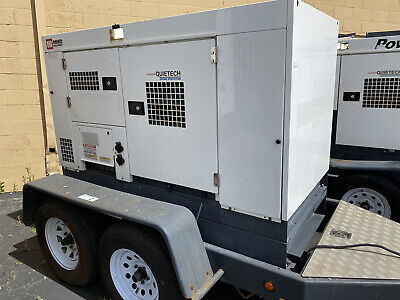 65 Kva Airman Mmd Portable Trailer Mounted Diesel Generator Set