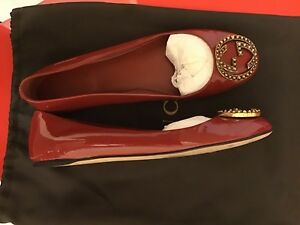 Gucci authentic red flats size 7.5