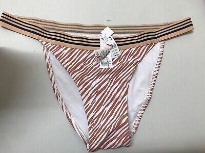 Topshop Animal Frill Tanga Bikini Bottoms Uk 16 EUR 44 US 12 #93