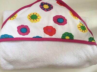 Marimekko Baby Infant Toddler Bath Towel Hooded Infant Flowers So Soft Cotton (Flower Hooded Towel)