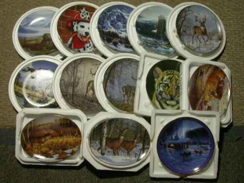Danbury Mint Collector Plates - Lot of 13 - Wildlife, Nature, Animal Themed