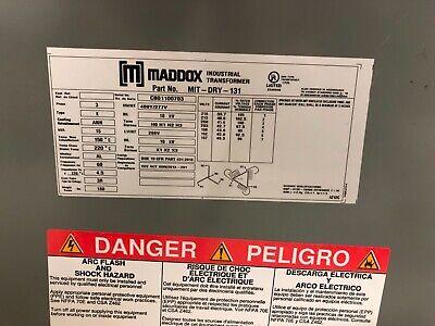Maddox Industrial Transformer 208-460 10kv Mit-dry-131