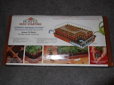 Brand New Sealed Burpee Seed Starting Ultimate Growing System 72 plants