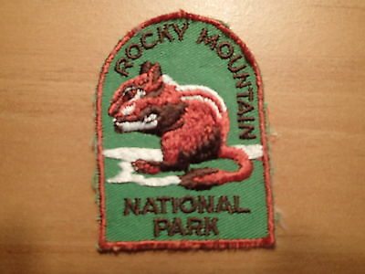 VINTAGE-Rocky Mountain National Park-EX CONDITION-Souvenir Travel Patch
