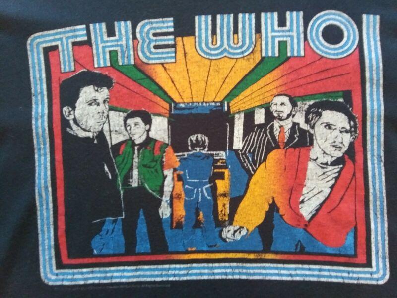 Vintage The Who Bids Farewell Tour 2005 Black Size XL T Shirt Single Stitch