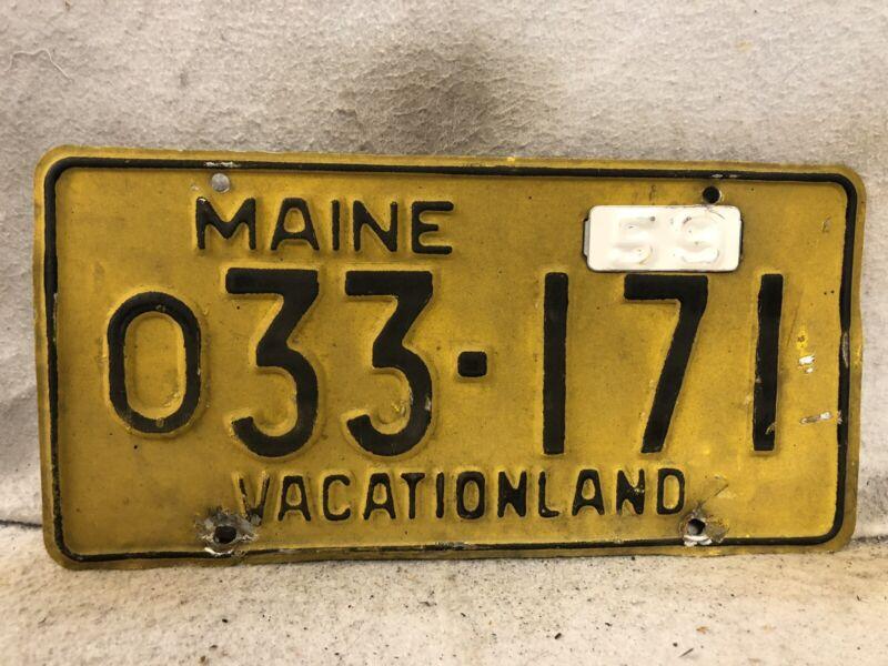 Vintage 1959 Maine License Plate