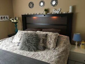 Headboard with lights KING size