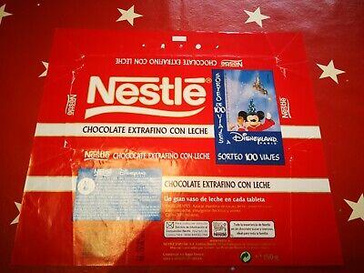 Rare Vintage Spanish Nestle Chocolate Advertising Sweet Wrapper Disneyland 1998  segunda mano  Embacar hacia Mexico