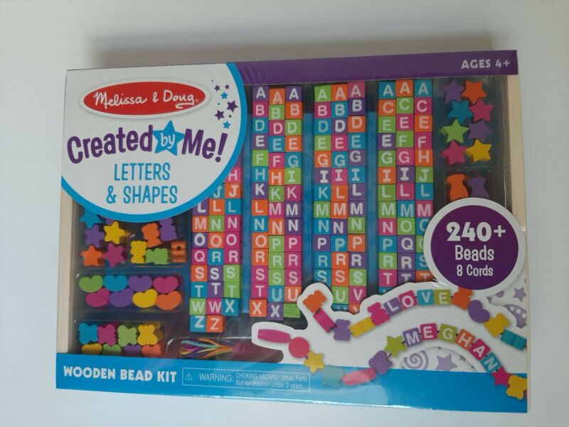 Melissa & Doug Created By Me Letters And Shapes Wooden Bead Kit Ages 4+