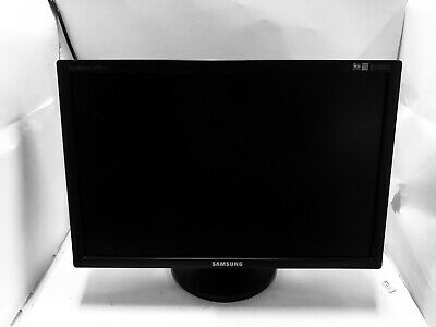 """2 x Sumsang SyncMaster 20"""" monitor 2043bw with stand(VGA/DVI) - Good Working"""