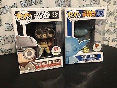 Walgreens Exclusive Star Wars Funko Pop Lot Anakin Yoda Spirit 02 231